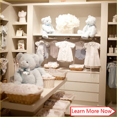 中国 Customized great clean neat baby apparel stores,baby boutique shop with good quality 工場