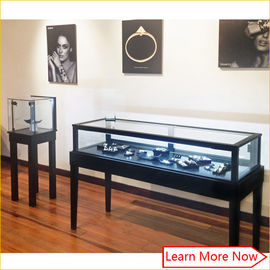 中国 Luxury mdf metal black paint jewelry retail supplies/jewelry store fixtures displays 工場
