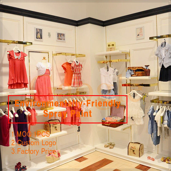 Newly come high end kids dress up metal clothing shelf サプライヤー