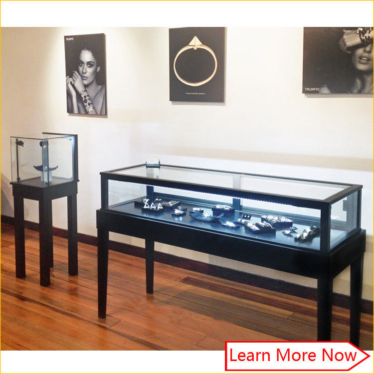 Luxury mdf metal black paint jewelry retail supplies/jewelry store fixtures displays サプライヤー