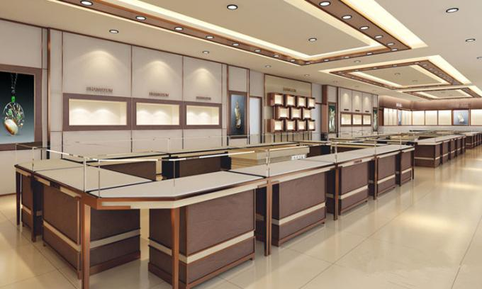 Eye-catching !Wooden Display Jewellery Showroom Furniture Counter Design